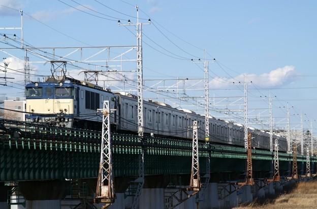 EF64 1031牽引による207系900番代マト71編成廃車回送