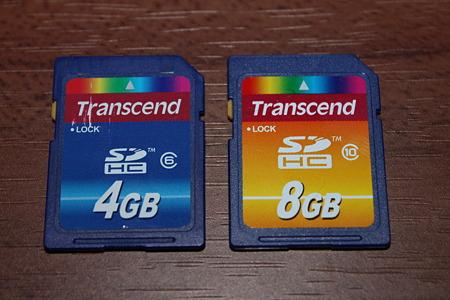 Transcend SDHC 8GB Class10(6/10)