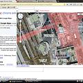 写真: Chromeエクステンション:Mini Google Maps(航空写真)