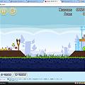 写真: Chromeアプリ:Angry Birds(プレイ画面)