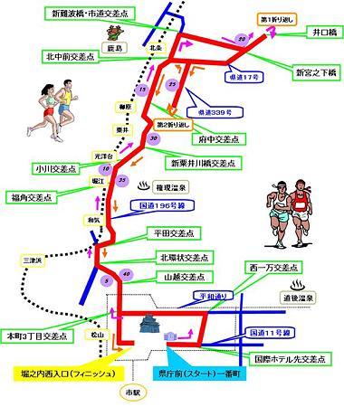 愛媛マラソンコース