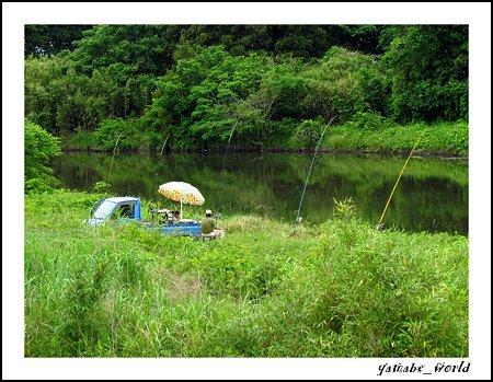 軽トラのある風景 ~鯉釣り~