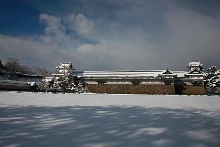 金沢城と雪(2)