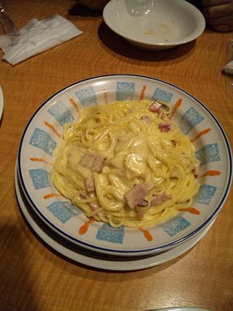 20100323 ベーコンとクリームのスパゲティカルボナーラ