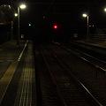 写真: 夜の線路