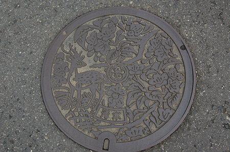 奈良のマンホール