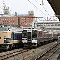 磐越西線 会津若松駅 583系 719系 キハ40系