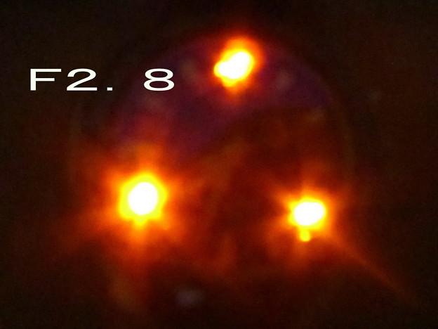 謎の星現象テスト F2.8 ちょっと絞る