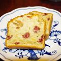 写真: 苺のパウンドケーキ