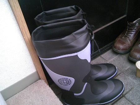 新たに購入した長靴