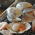Photos: 「海女小屋」の焼きハマグリ
