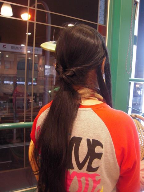 今日のツイストヘア