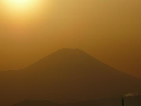 100311-富<br />士山と夕陽 (7)