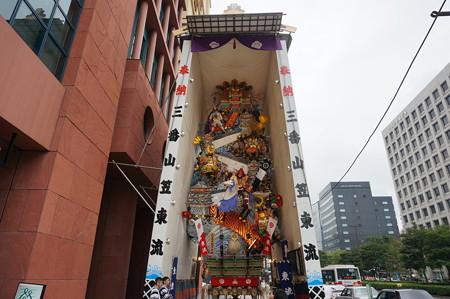 03 2014年 博多祇園山笠 飾り山笠 忠義軍師官兵衛 東流 (1)