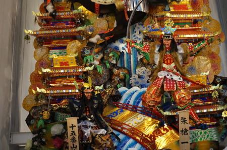 15 2014年 博多祇園山笠 飾り山笠 朱槍一竿傾而候 新天町 (5)