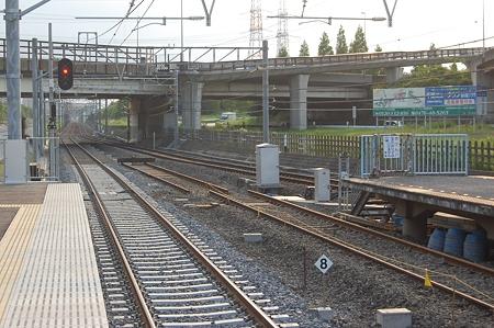 小室駅ホームから(2008/05/18)