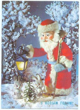 サンタクロースとウサギたち