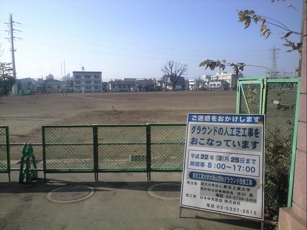 写真: 東京工業大学 大岡山団地 グランド改修工事