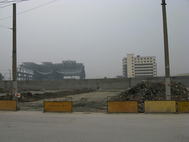 上海万博建設中(たぶん中国館)