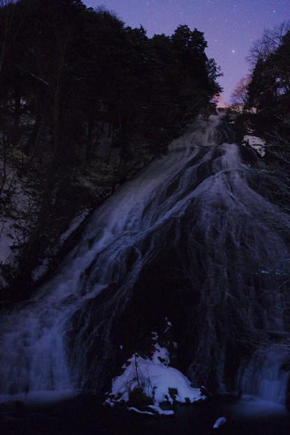 名瀑と北極星