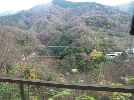 箱根登山電車の車窓(塔ノ沢駅→大平台駅)8