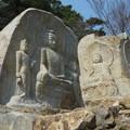 世界遺産:七仏庵磨崖仏像群全景 Seven Buddhas Hermitage