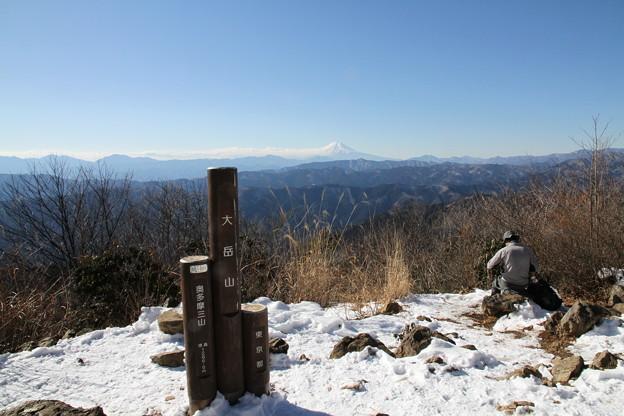写真: 100116-31大岳山・馬頭刈尾根 山頂