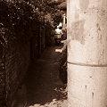 Photos: 電柱のある坂道
