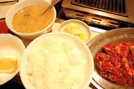 ジンギスカン定食520円