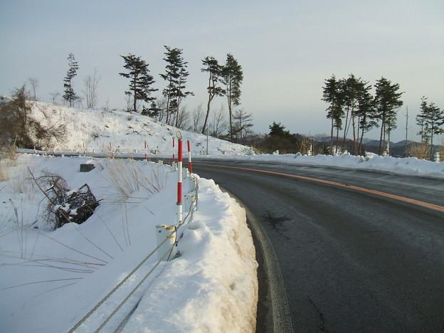 福島県道64号の冬 - 明ル坂 - 4thヘアピンカーブ - 1