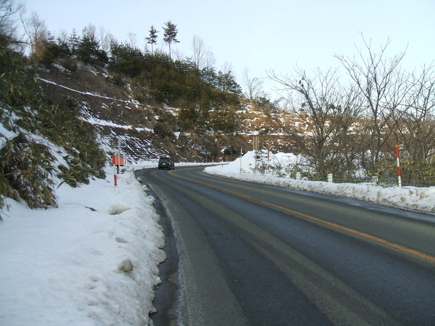 福島県道64号の冬 - 明ル坂 - 5thヘアピンカーブ - 1
