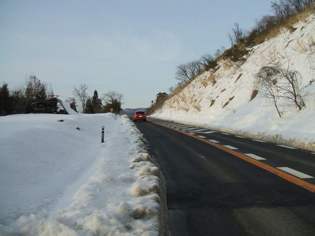 福島県道64号の冬 - 明ル坂 - 6thヘアピンカーブ - 3