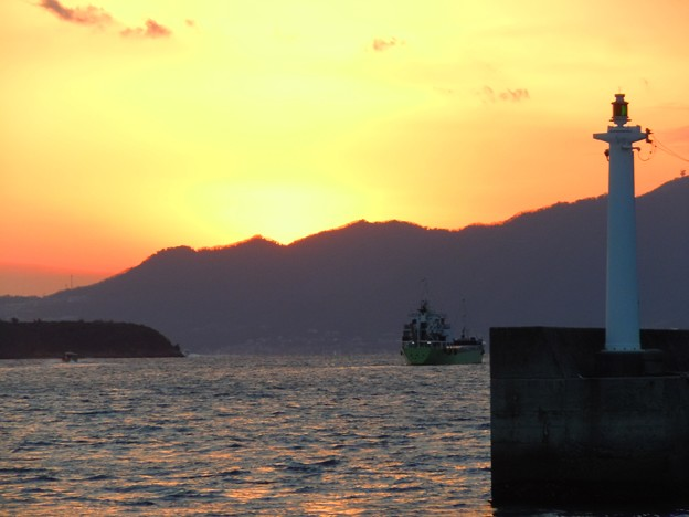 荒海の落日