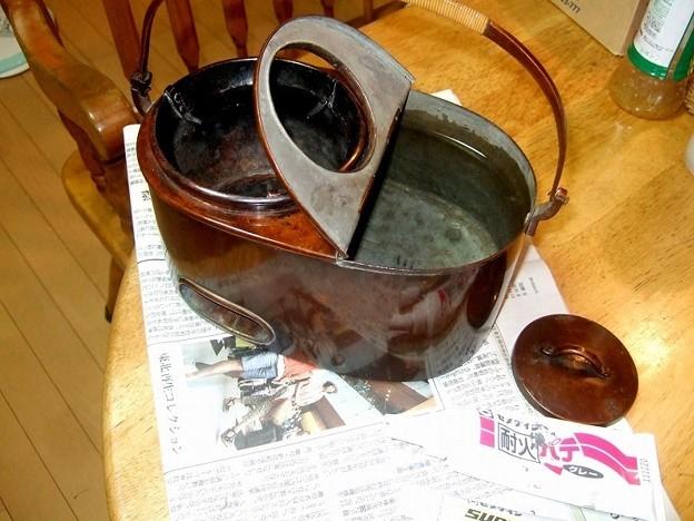 燗銅壺 補修 1日硬化時間を置く