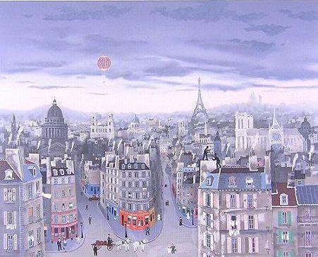 ドラクロワ『パリの空』