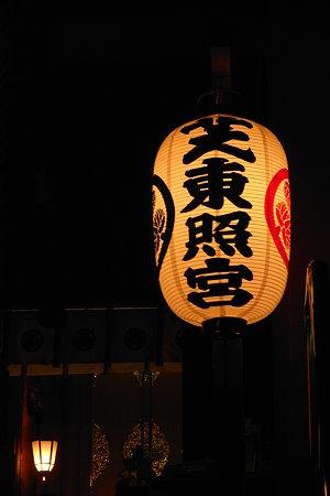 芝東照宮の灯