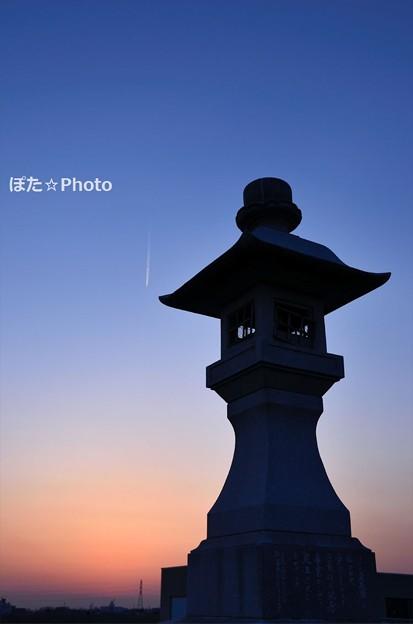 Photos: 通運丸常夜灯跡