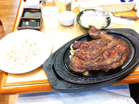 1ポンドステーキ in 豊浜SA