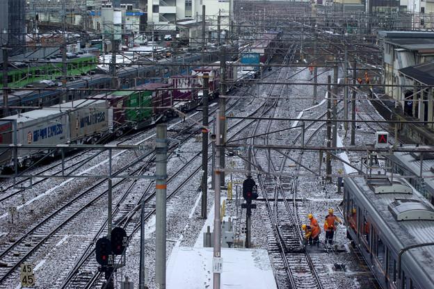 凍える線路