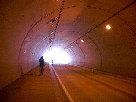 上蒲刈トンネル出口