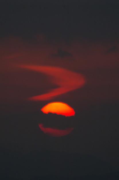 写真: お洒落な夕陽かも??(笑)