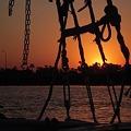 写真: ルクソール フルーカから見る夕暮れ