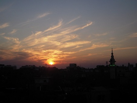 OASISから見るルクソールの夕暮れ