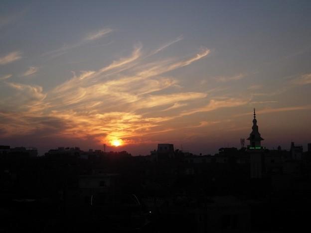 Photos: OASISから見るルクソールの夕暮れ